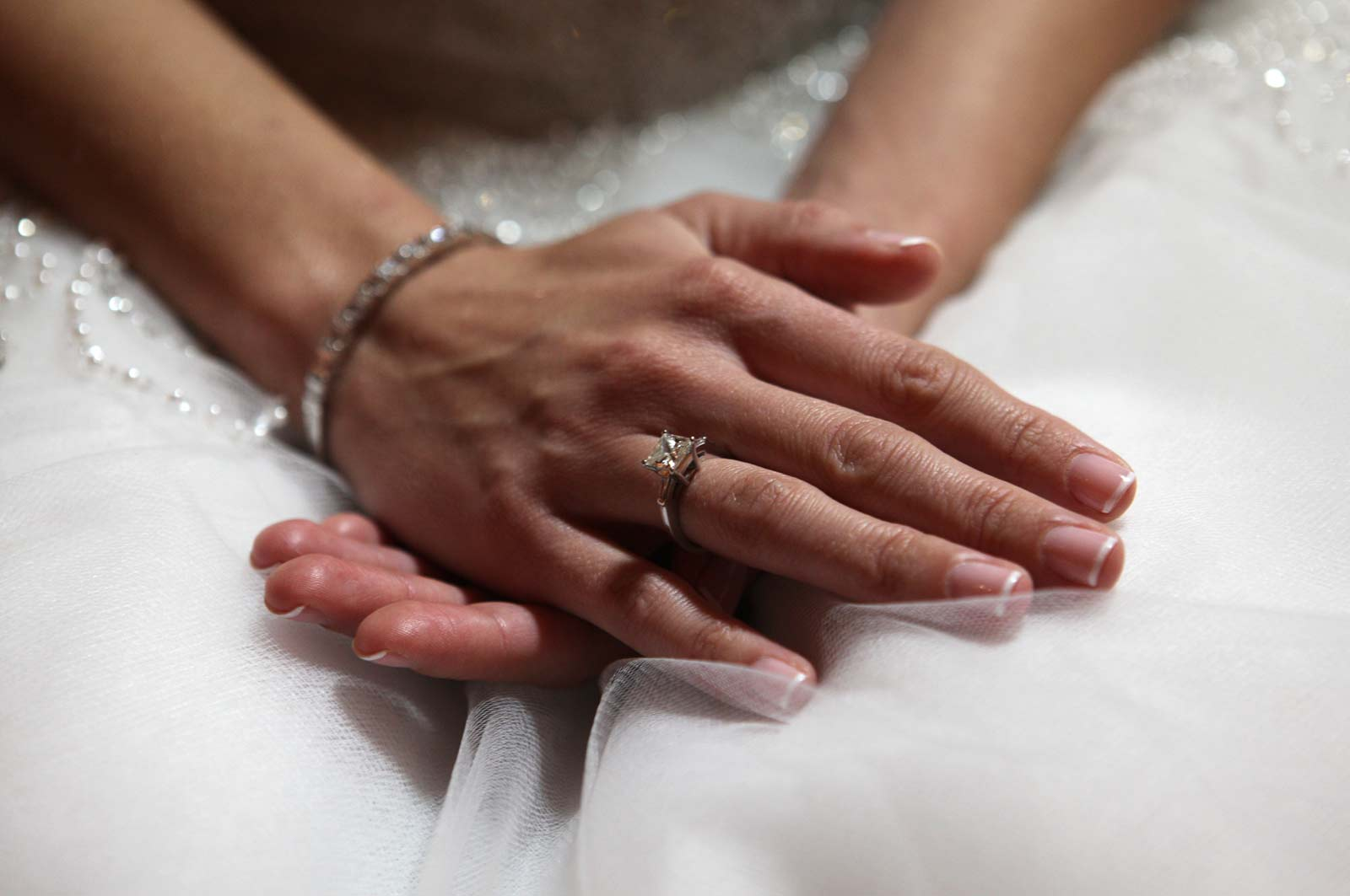 Hands of Bride Showing Wedding Ring