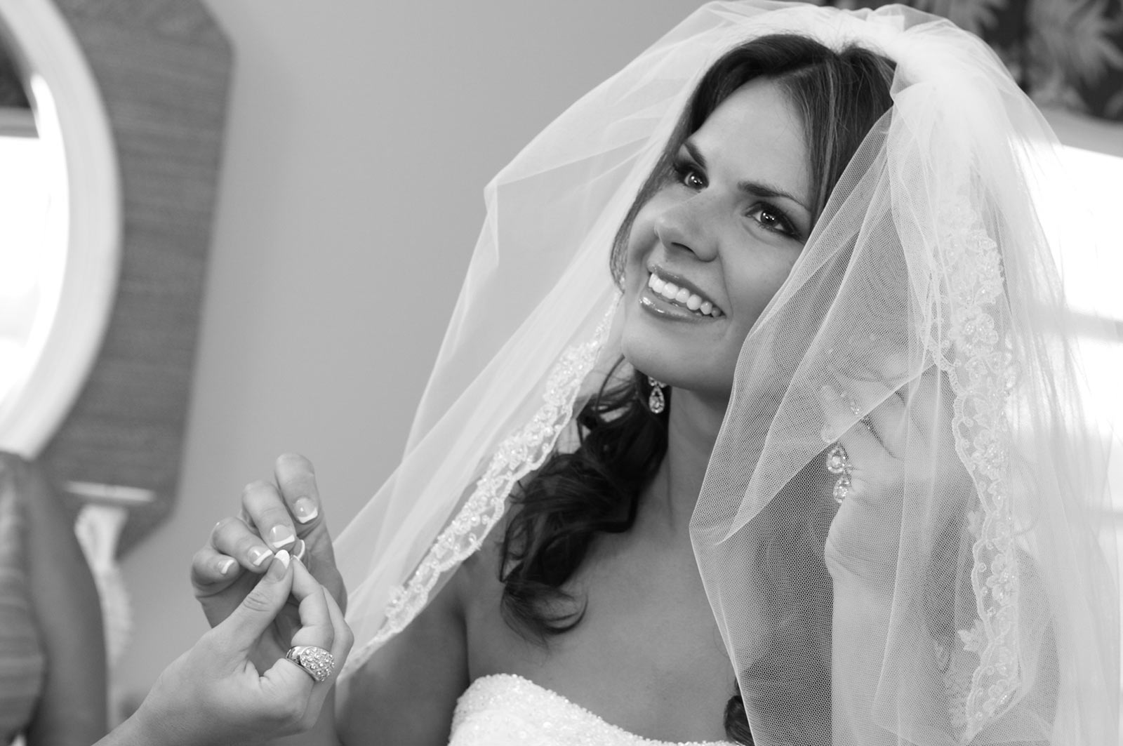 Bride Smiling - Getting Ready - Photo by J. Garcia